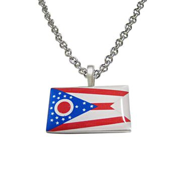 Ohio State Flag Pendant Necklace