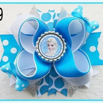 CHARACTER BOTTLE CAP HAIR BOWS - #39
