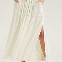 Silence + Noise Amanda Drawstring Maxi Skirt | Urban Outfitters