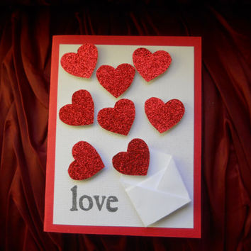 Valentine's Day Card -Sending Love Red Heart
