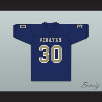 Bobby Bruce 30 Independence Community College Pirates Dark Blue Football Jersey