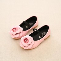Girls Flower Slip On Flats