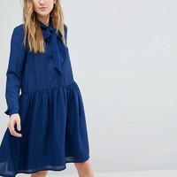 Y.A.S Tall Pussybow Skater Dress at asos.com