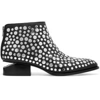 Alexander Wang - Kori cutout studded leather ankle boots