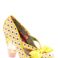 Irregular Choice Unique in New York Heel in Yellow