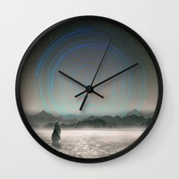 It Beckons Wall Clock by Soaring Anchor Designs | Society6