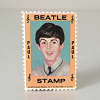 Vintage Beatles Paul McCartney Stamp - 1964 Hallmark Ltd. Edition Collectible