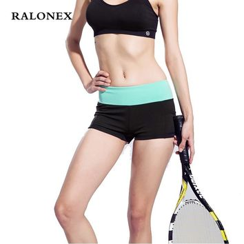 Women Fitness Sports Shorts High Waist Elastic Running Gym Yoga Quick Dry Breathable Short Pants Fitness Womens Gym Shorts