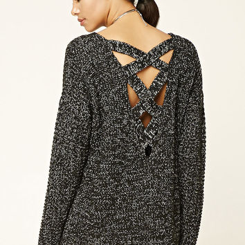 Chunky Crisscross-Back Sweater