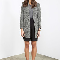 Two-Tone Bouclé Coat
