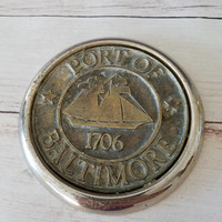 Baltimore/ Port of Baltimore/ Baltimore Gift/ Baltimore Art/ Baltimore Collectible/ Paperweight/ Maritime/ Sailboat/ Nautical Decor/ brass