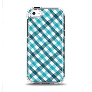 The Vintage Blue & Black Plaid Apple iPhone 5c Otterbox Symmetry Case Skin Set