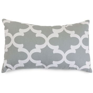 Gray Trellis Small Pillow
