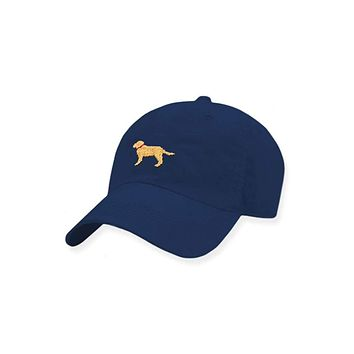 Yellow Lab Needlepoint Performance Hat by Smathers & Branson