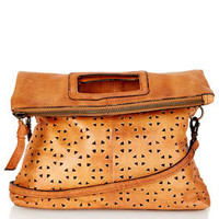 Geo Perforated Crossbody Bag