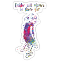 Dobby Quote from Harry Potter Watercolor