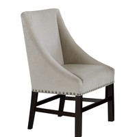 """Dining Chair - 2Pcs / 38""""H / Taupe Velvet Fabric"""
