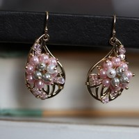 pink sunburst earrings - $16.99 : ShopRuche.com, Vintage Inspired Clothing, Affordable Clothes, Eco friendly Fashion
