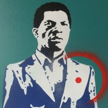 Target man painting,stencil art,spray paints,graffiti art,urban art,canvas,turquoise,hand made,African,street art,pop art,wall art,home,his