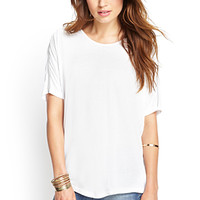 LOVE 21 Slouchy Zippered Dolman Tee