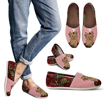 Illustrated Yorkie Terrier Casual Shoes