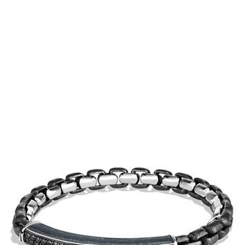 Men's David Yurman Pave ID Bracelet with Black Diamonds - Black Diamond