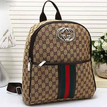 Perfect  Gucci Women Leather Shoulder Bag Satchel Handbag Backpack