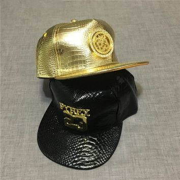 Good Quality Men No.23 Pyrex Jordans Style PU Leather Snapback Hiphop Baseball Cap Hat