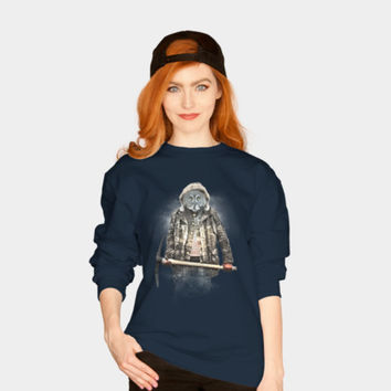 Blizzard Owl Sweatshirt By Daniacdg Design By Humans