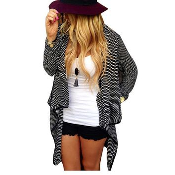 Black/Khaki Loose Knit Cardigan