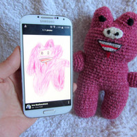 Original Gift - Crocheted Toy from Kids Drawing, Made to Order