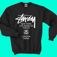 Stussy Sweatshirt Stussy World Tour Sweatshirt Unisex Sweatshirt Crew Neck S-XL