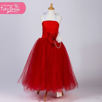Handmade Red and White Snow White Inspired Tutu Fancy Dress - Gown Costume - Floor Length - Birthday Gift - Age 2 3 4 5 6 7 8 9 10 11