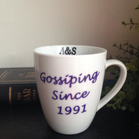Custom friendship mug with initials on inner rim
