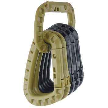 Link Carabiner Climb Clasp Clip Hook Backpack Molle System D Buckle Military Outdoor Bag Camping Climbing Accessories