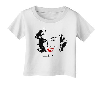 Marilyn Monroe Cutout Design Red Lips Infant T-Shirt by TooLoud