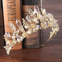 Crystal crown bride princess crown wedding accessories