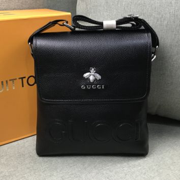 Black Leather Gucci Bag JUICEACTION 001