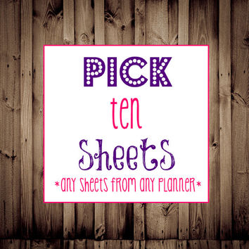 Editable-Pick any TEN Sheets-Printable Planner, Budget Printable, Fitness, Menu Planner, Blog, Home Business, Cleaning, Daily Planner
