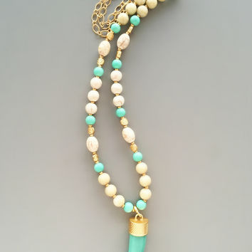 Savannah Horn Necklace