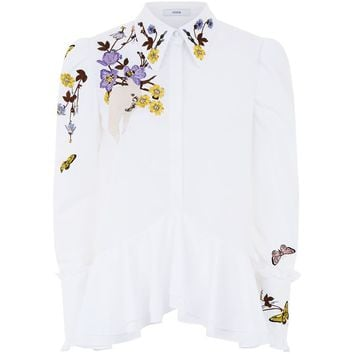 Erdem Embroidered Poplin Blouse | Harrods.com
