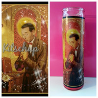 pee wee herman prayer candle