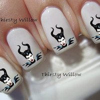 Angelina Jolie as Maleficent Nail Decals