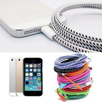 Flycool 1m 3ft 2m 6ft 3m 10ft Braided 8 Pin Usb Sync Data Charger Cable For Iphone 5 5s 5c 6 6plus
