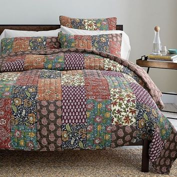 DaDa Bedding Bohemian Floral Masterpiece Patchwork Quilted Bedspread Set - Full - 3-Pieces (JHW-512)