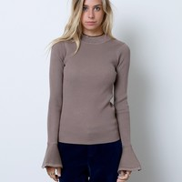 Share Your Love Knit Top - Brown