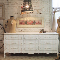 Painted Cottage Chic Shabby White French Dresser DR57
