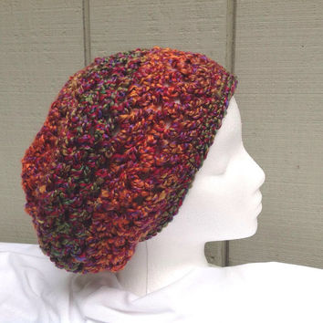 Womens slouchy hat - Crochet beanie - Teens accessories - Crocheted slouchy - Womens hats
