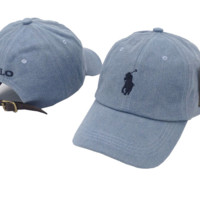 The New Polo Embroidery Denim Blue Cotton Baseball Golf Sport Cap