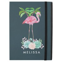 "Pink Flamingo Palm trees and Floral Succulents iPad Pro 12.9"" Case"